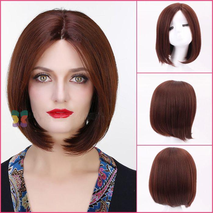 Плутон Голливуд 100% ху человек волос короткий Прямой боб стиль ace парики Glueless Парик Фронта Шнурка DHL Бесплатно