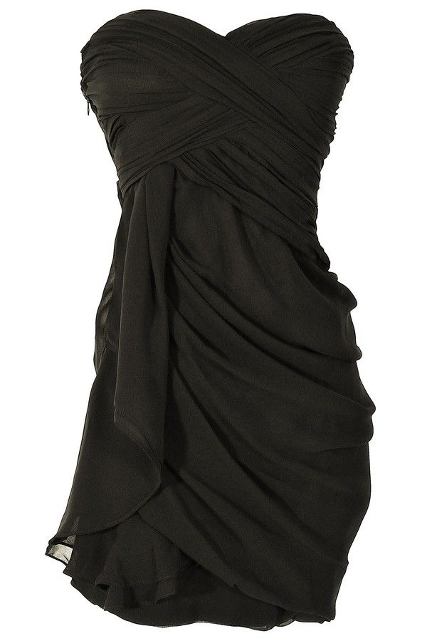 Chiffon Drape Dress in Black for Bridesmaids. I like it but not sure about how it would look on