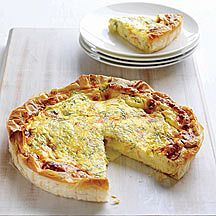 Weight Watchers - Quiche met camembert en gerookte zalm - 8pt