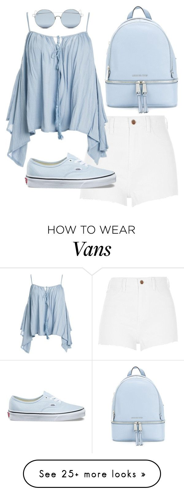 """Untitled #318"" by agfulcher14 on Polyvore featuring River Island, MICHAEL Michael Kors, For Art's Sake, Sans Souci and Vans"