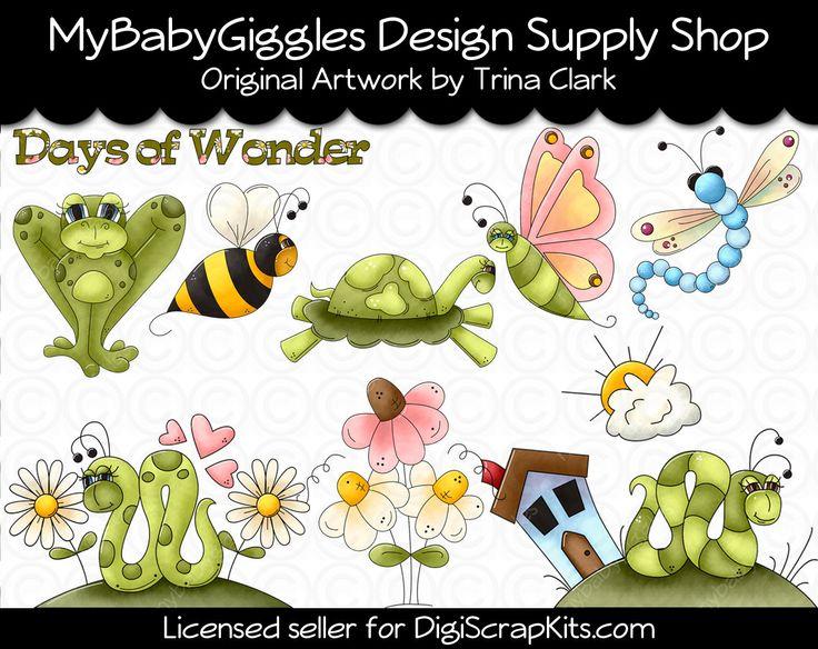 ON SALE Wonderful Days Clip Art Digital Graphics Scrapbook Card Making Supply INSTANT Download mybabygiggles 2.50 USD