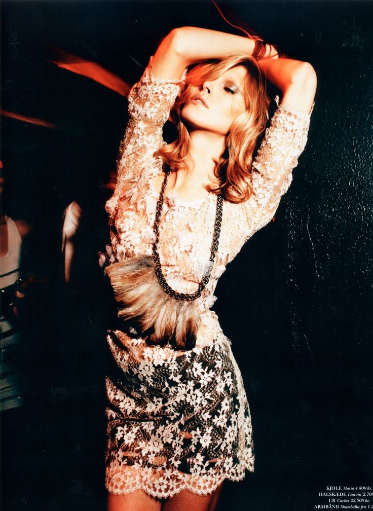 """""""The Party"""" : Iselin Steiro : Cover Magazine December 2010 : Rick Shaine"""