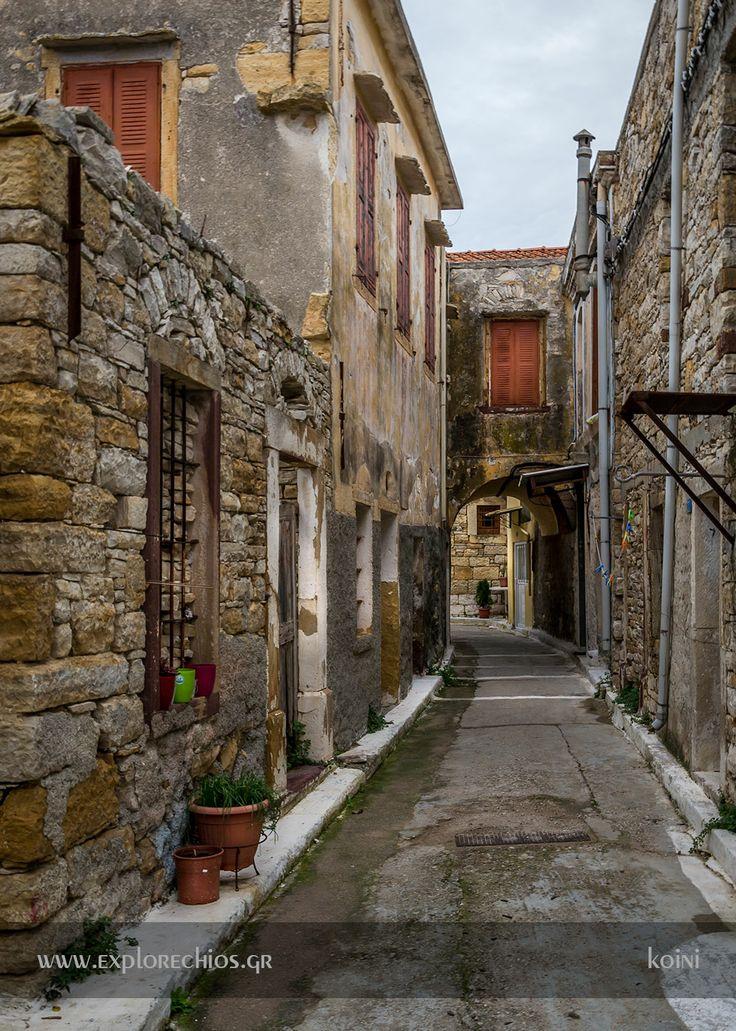 The unique alleys of Koini village! http://www.explorechios.gr/index.php/en/villages-of-chios/south-chios/186-koini