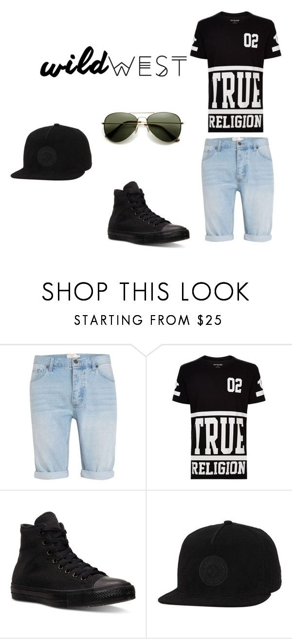 """Casual men"" by dianacrystal on Polyvore featuring Topman, True Religion, Converse, men's fashion и menswear"