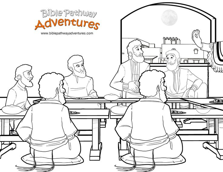 lords supper coloring pages - photo#19
