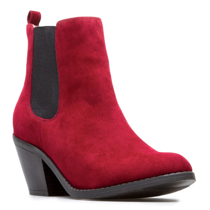 Super cute red bootie from ShoeDazzle!