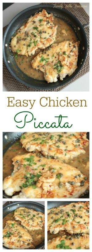 Impress your family with this Easy Chicken Piccata!  Not only is it easy to make it's healthy and delicious!