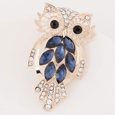 Diamond Owl Shape  Blue. Fashionable with passion REPIN if you like it.😊 Only 57 IDR