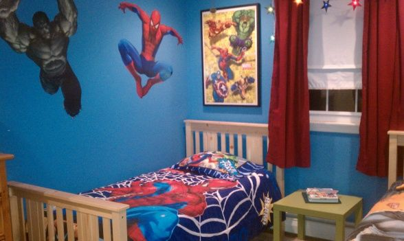 Toddler Girl Bedroom Wallpaper Super Hero Room Boys Hgtv Hgtvremodels Hgtvgardens Hgtv
