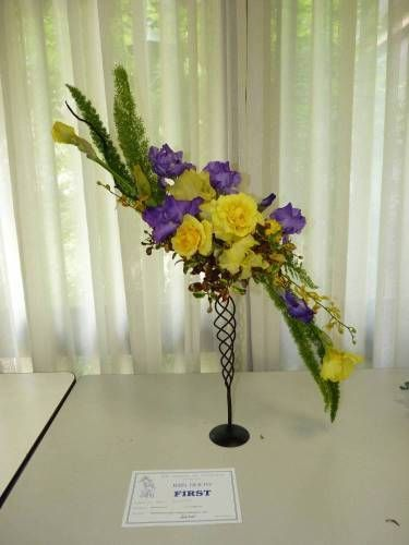 Traditional floral display including Iris - Victorian Iris Show 2010