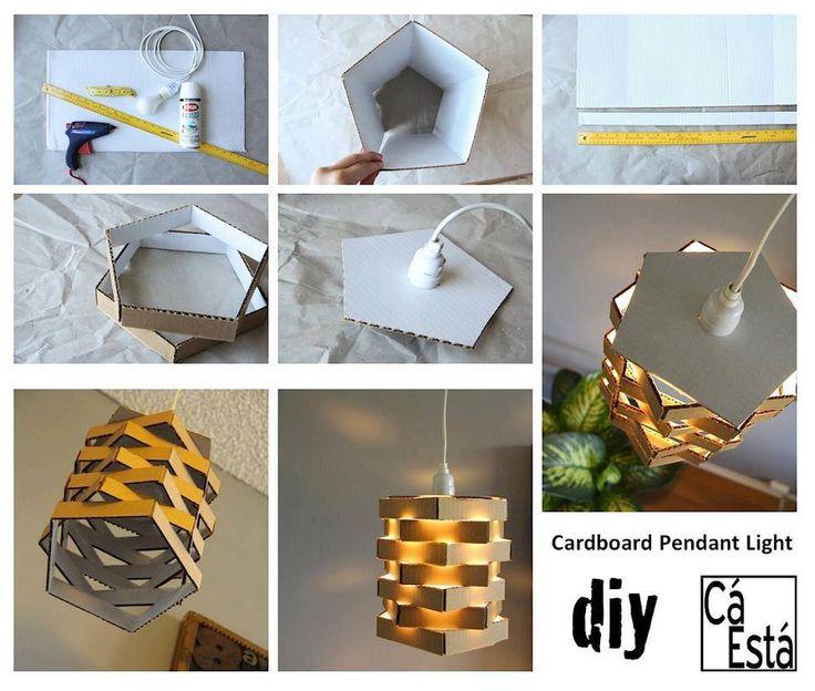 DIY Cardboard Pendant Lighting Diy Craft Crafts Easy Crafts Craft Idea Diy  Ideas Home Diy Easy Diy Home Crafts Diy Craft Diy Decorations Craft Decor