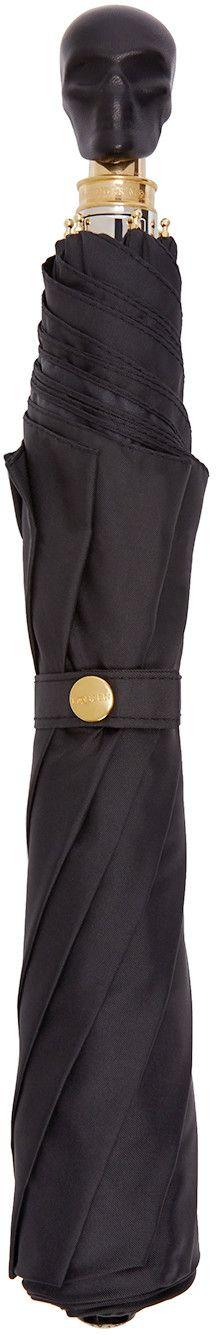 Alexander McQueen - Black Leather Skull Compact Umbrella 350 EUR. 1 June 2016 on sale on Ssense was $495, now $248.