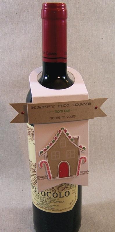 Gingerbread Lane - plus Wine Tag. Very cute by Lizzie Jones