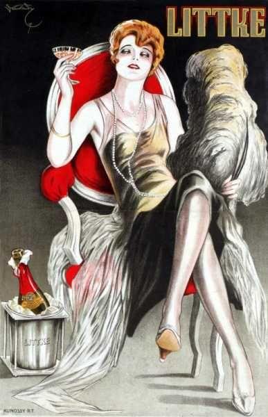 Littke pezsgőgyár Pécs retro plakát