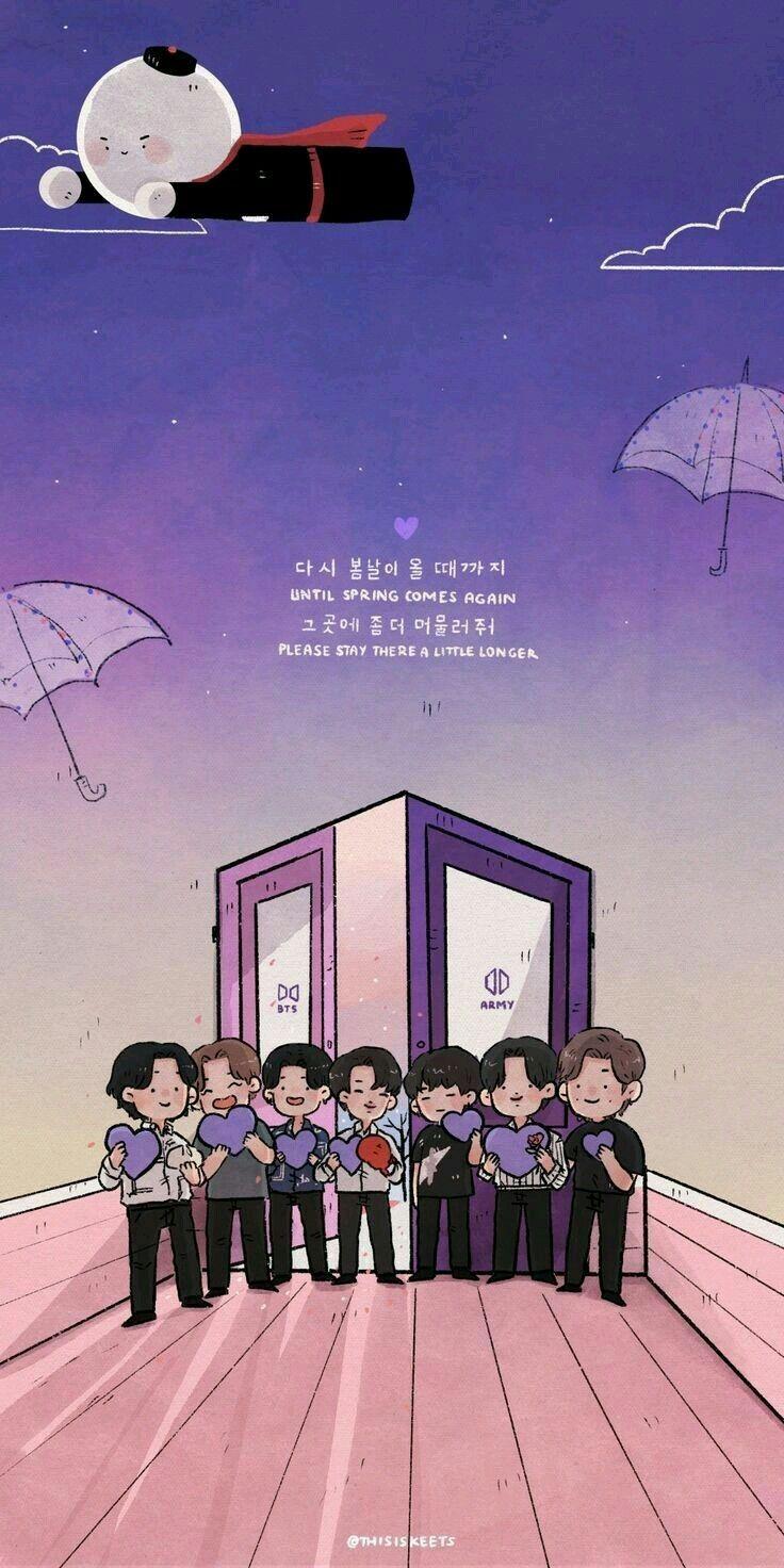 Pin By Evelin Mendoza On Bts Dibujo Bts Wallpaper Bts Bts Chibi Bts army wallpaper cartoon