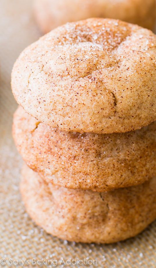 Soft, thick, chewy, wonderful Snickerdoodles. Pure snickerdoodle goodness right here! An easy recipe, too!