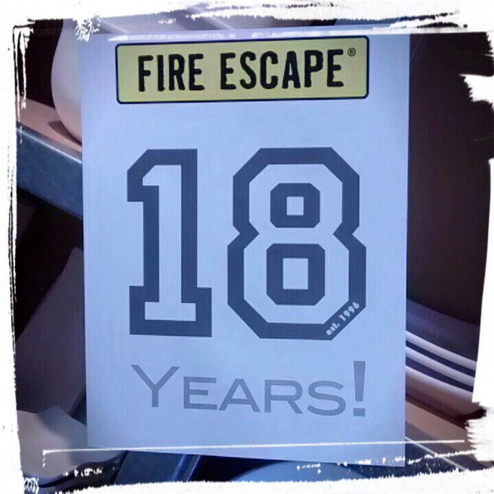 Fire Escape® had their 18th Anniversary Party on Sunday, September 7th, 2014. #RescueYourCreativity