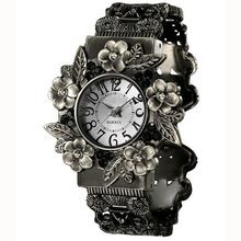 Nova Moda Retro Mulheres Nobres relógios de Pulso de Aço Inoxidável Relógios Vestido de Quartzo Pulseira Relógio(China (Mainland))