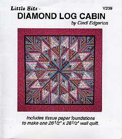 Little Bits Diamond Log Cabin by Cindi Edgerton