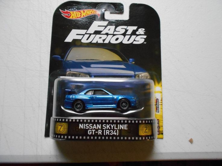 Cool Great HOT WHEELS REAL RIDERS NISSAN SKYLINE GT-R (R34) 2017/2018