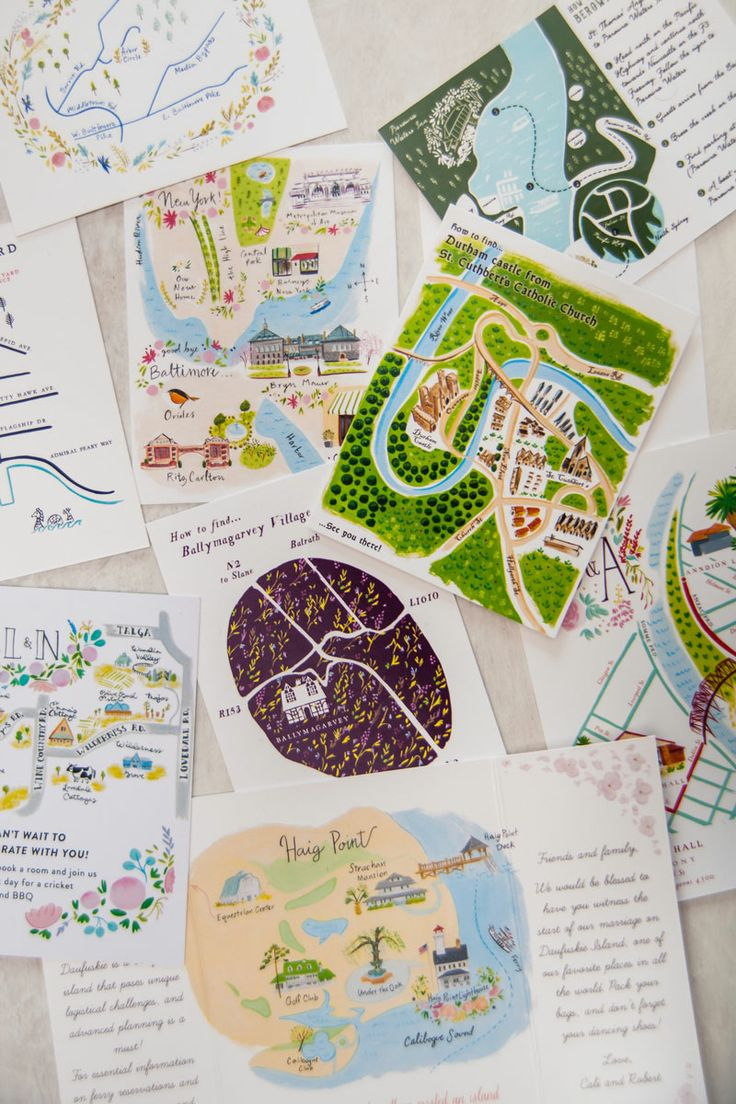 Collection of the illustrated maps weu0027ve made