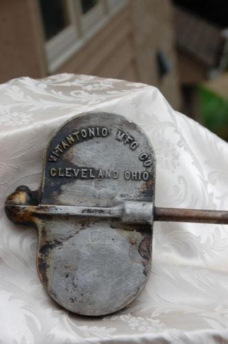 Vintage krumkake iron.