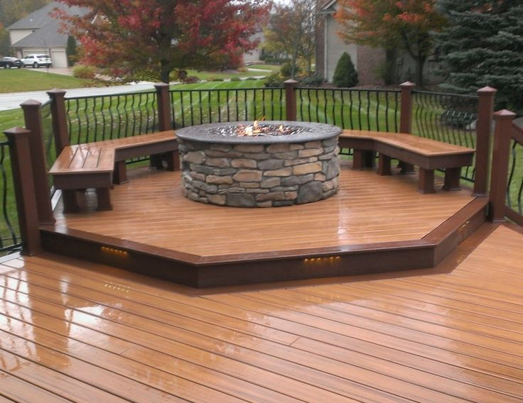 Deck With Fire Pit | My First Trex Deck U0026 Gas Fire Pit After