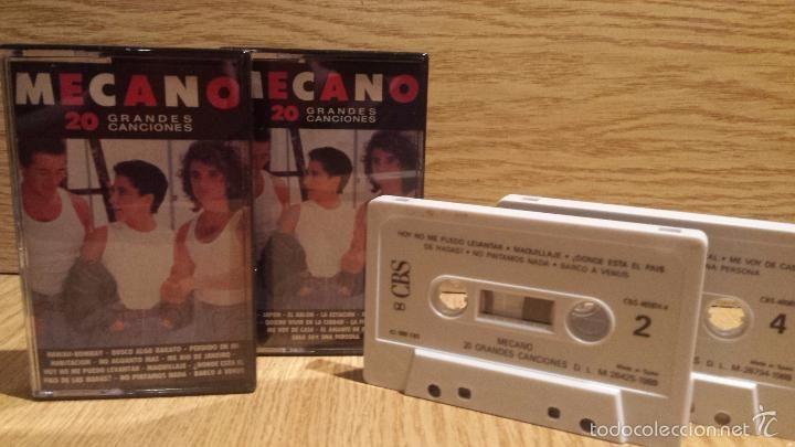 MECANO. 20 GRANDES CANCIONES. DOBLE MC / CBS - 1989 / MUY BUENA CALIDAD.