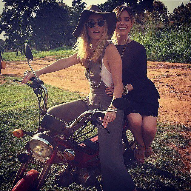 Sophia Bush rode sidesaddle while visiting Uganda.
