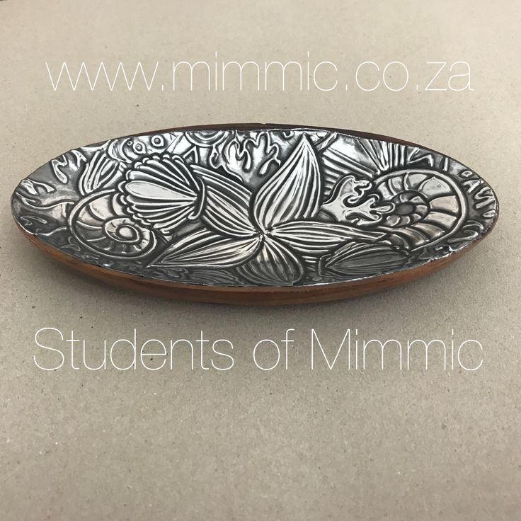 This small wooden bowl is transformed with a beautiful pewter inlay by Esther from our Thursday class. Follow us on Facebook at www.fb.com/mimmicgalleryandstudio