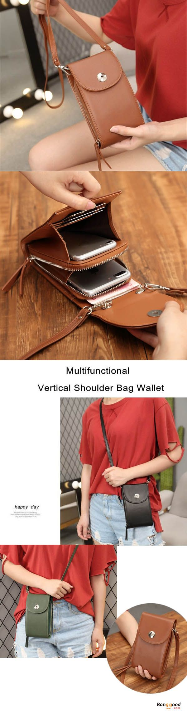 US$17.99 + Free shipping. Our design of small crossbody cell phone bag as fashionable, lightweight and convenience. You can carry a smartphone, money and other tiny things. Vertical Shoulder Bag Wallet, Multi-functional bag, wallet purse, crossbody bag, card bag, phone bag. Buy now!