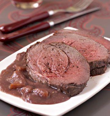 Rôti de biche, sauce grand veneur - les meilleures recettes de cuisine d'Ôdélices