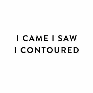Contouring and conquering are essentially the same thing. …