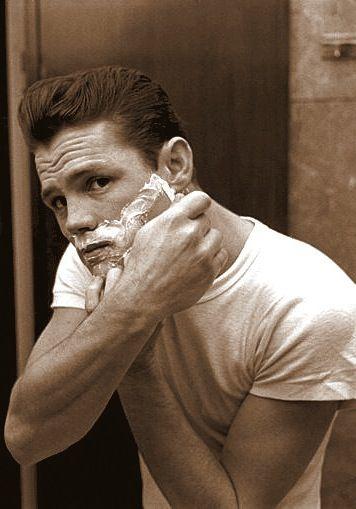 CHET BAKER shaving (follow minkshmink on pinterest)
