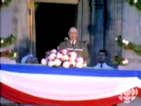 """▶ """"Vive le Québec libre !"""" - Charles De Gaulle - YouTube"""