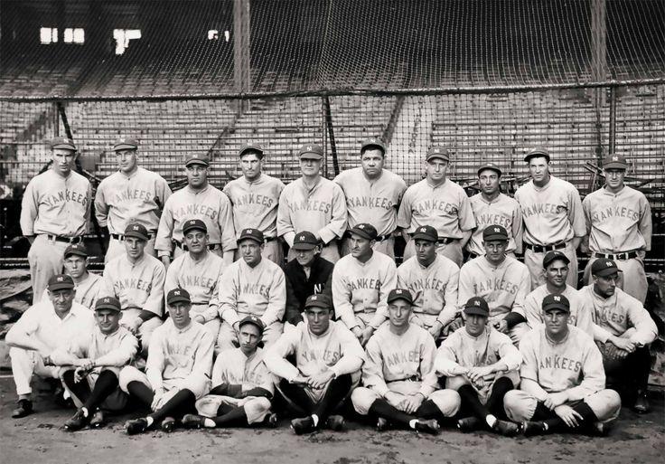 Vintage New York Yankees photo print poster Babe Ruth NY