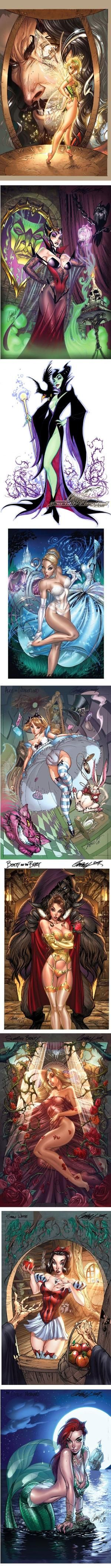 J. Scott Campbell Draws Naughty Disney Princesses by AislingH