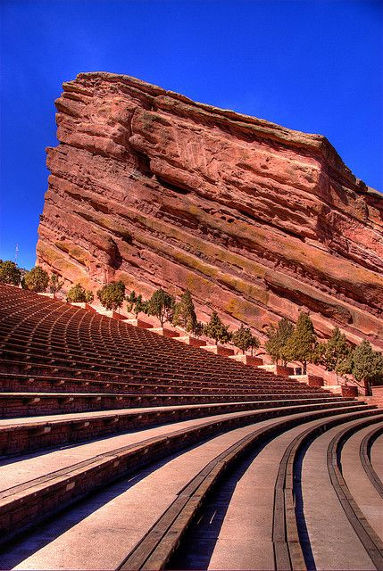 Red Rocks Ampitheater, just 20 min outside Denver. Best place ever to see a concert!