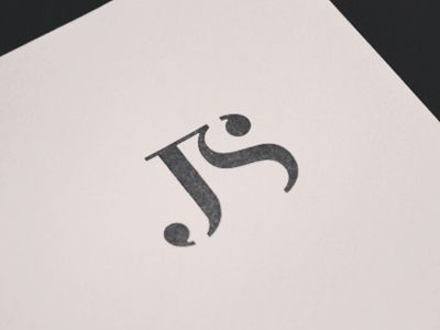 'Logo mark' (Letter mark) Simple. Distinctive. Versatile. Appropriate. Timeless. I like this one as it has the same initials as me.. 'JS'