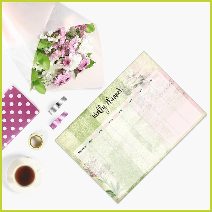 Vintage Weekly Planner Printable available from The Art of Creativity Studio