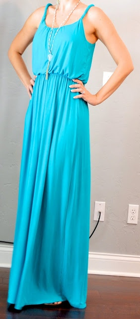 Outfit Posts: outfit post: teal maxi dress... Have this dress from LOFT!!!