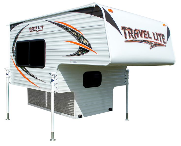 """The Travel Lite 625 Super Lite is a non-slide truck camper for short bed trucks. The base weight of this 6'2.5"""" non-slide camper is 1,285 pounds."""