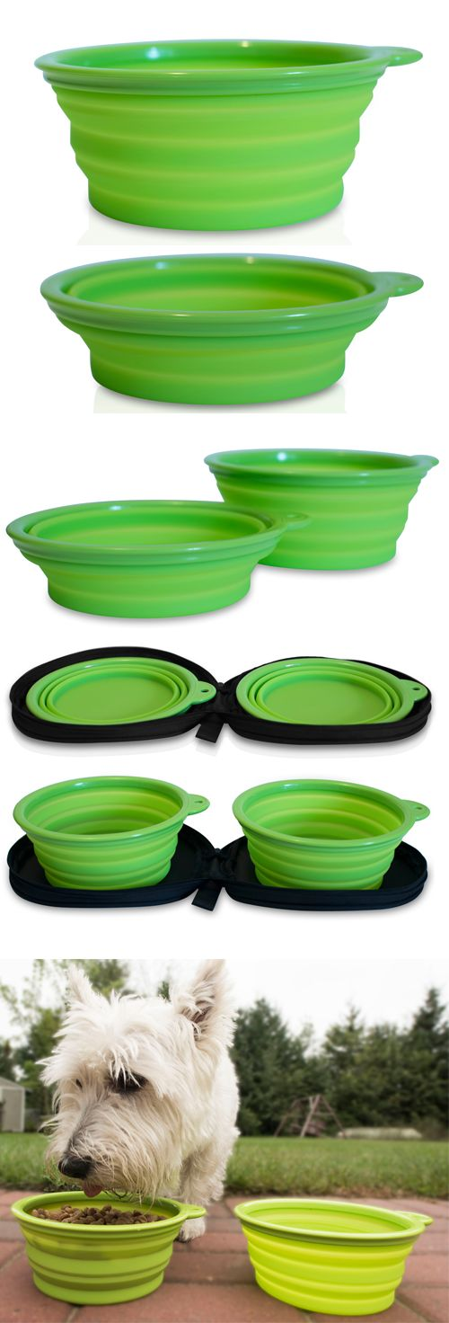 Travel with your dog? Our collapsible dog bowls are perfect for traveling with your pet!