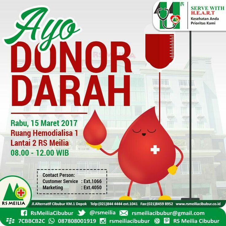 Ayo donor darah • • #sakit #penyakit #sehat #kesehatan #rumahsakit #dokter #spesialis #perawat #rsmeilia #cibubur #depok #cileungsi #bekasi #bogor #jakarta #indonesia