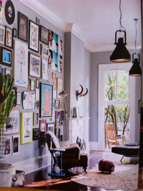 Living room. Home of Michiel Huisman and Tara Elders in New Orleans.