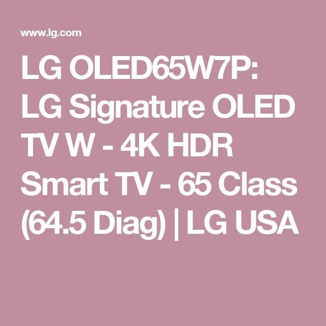 LG OLED65W7P: LG Signature OLED TV W - 4K HDR Smart TV - 65 Class (64.5 Diag) | LG USA