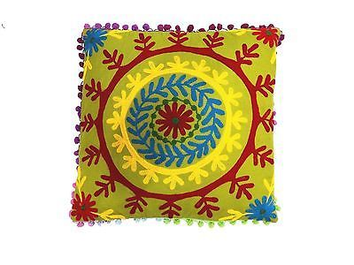 Handmade-Suzani-Embroidery-cushion-Home-Decoration-Indian18x18-Pillow-case-S-276