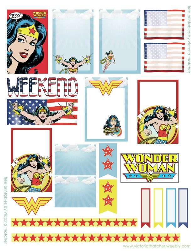Planner & Jounaling Printables ❤ Wonder Woman