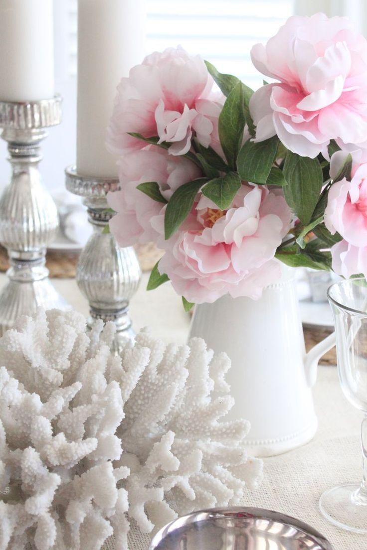 Coastal Pink Valentine's Table | Starfish Cottage