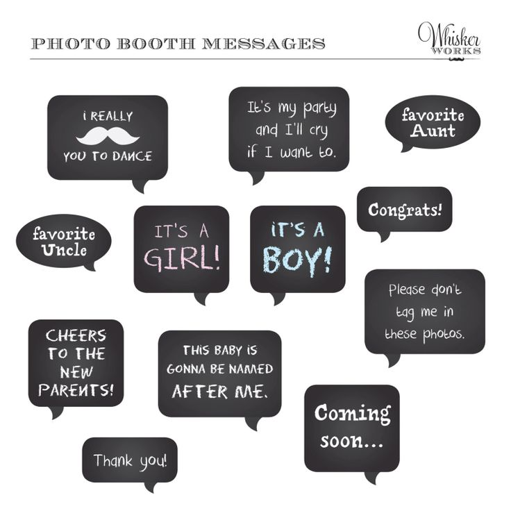 baby shower photo booth | DIY Photo Booth Printables Chalkboard Signs ...